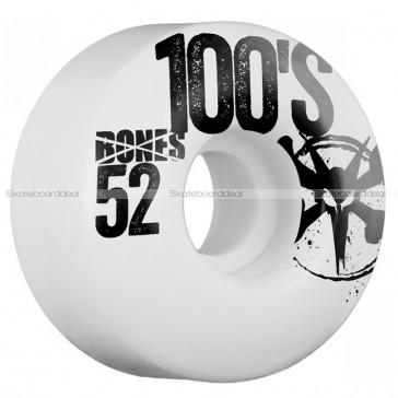 Bones 100's 52mm skateboard wielen