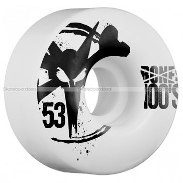 Bones 100's 53mm skateboard wielen