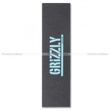 Grizzly Stamp Print Griptape Diamond Blue (9 x 33 inch)