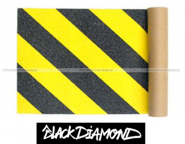 Black Diamond Skateboard Griptape Caution (9 x 33 inch)