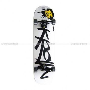 Skateboard Krown Pro Black Splat Complete 8.0