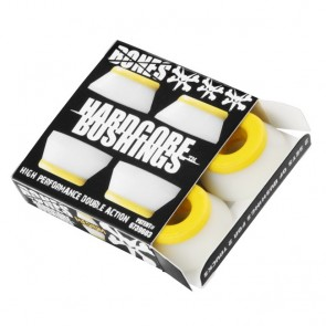 Bones Hardcore Skateboard Bushings - Medium - White (2 Sets)