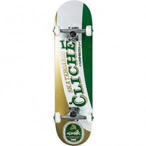 Cliché imported White/Green 8.0  Complete Skateboard