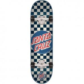 Santa Cruz Check Dot Blue 7.9 Complete Skateboard