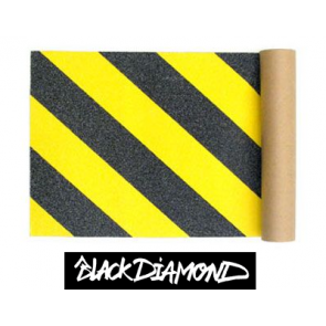 Black Diamond Skateboard Griptape Caution (9 x 33 inch)